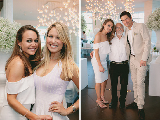 chic white engagement party