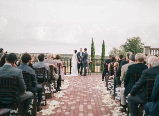 Shades of Red Rustic Wedding