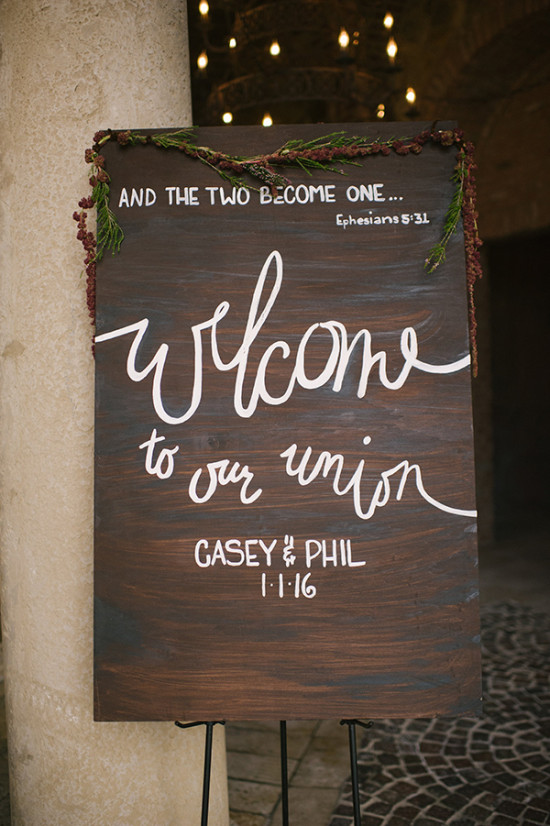 Welcome wedding sign idea