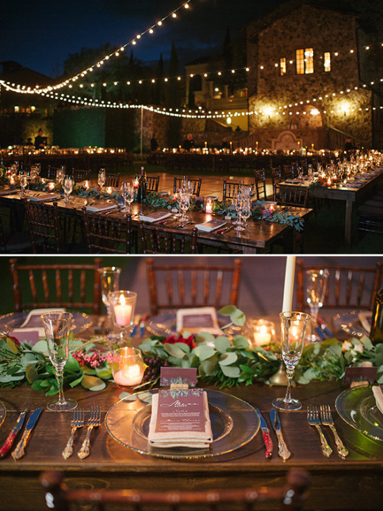 Wedding reception lighting idea