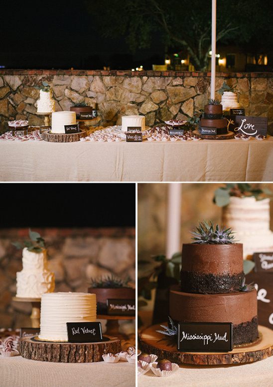 Wedding cakes in different flavors