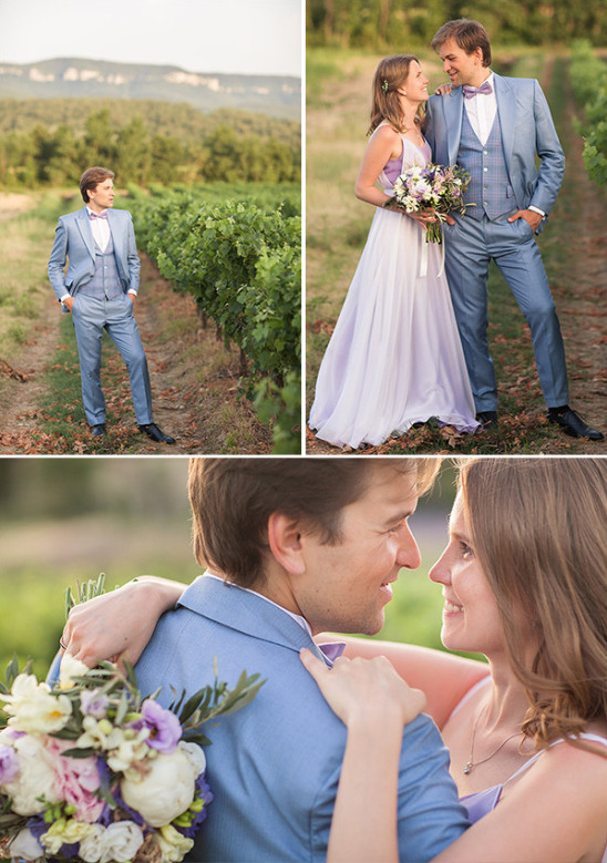 light blue and lavendar groom suit