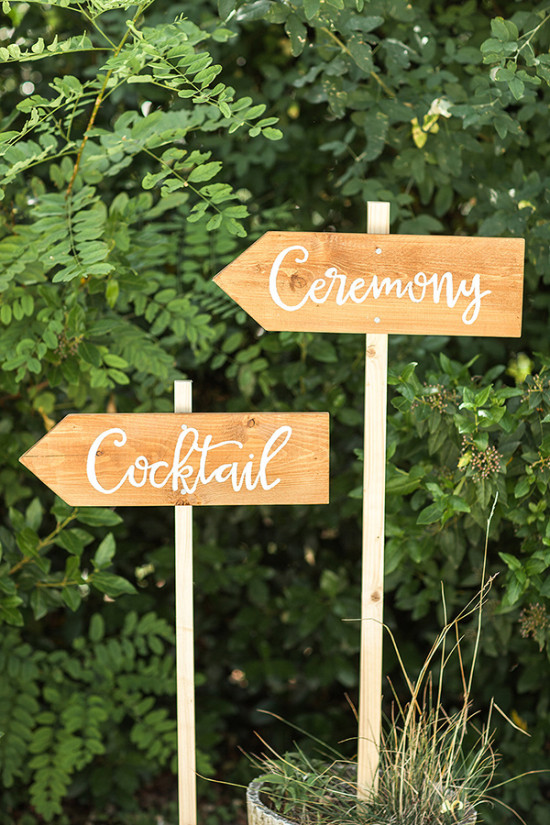 ceremony and cocktail sign