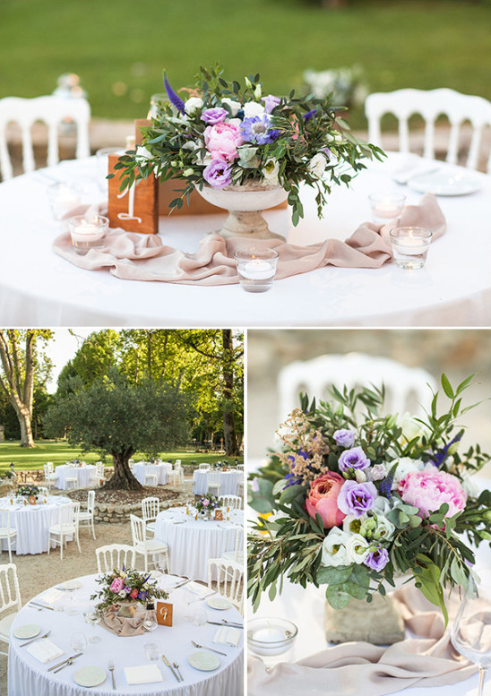 rustic chic garden reception decor