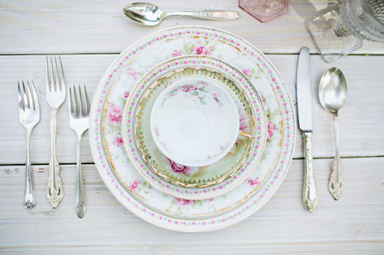 china tea cup place setting