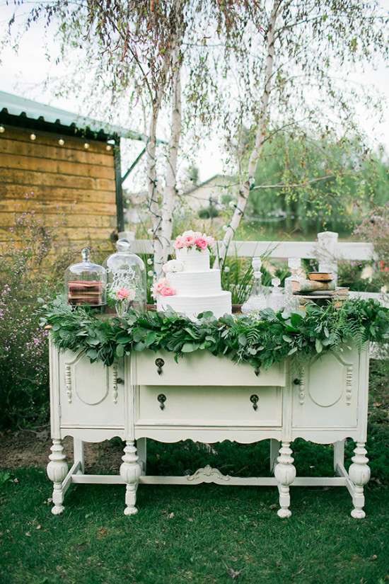 dreamy fairy tale wedding cake table