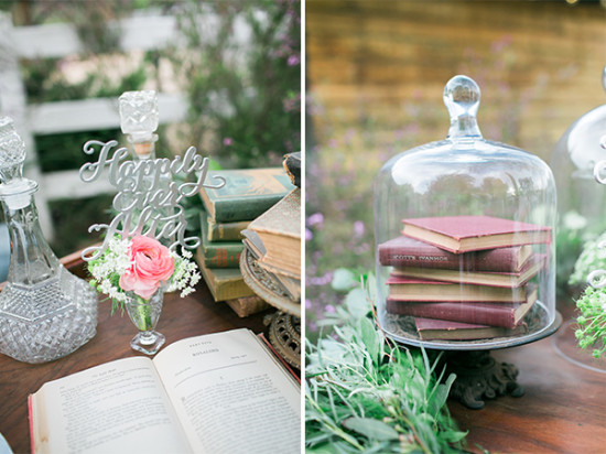 wedding book decor