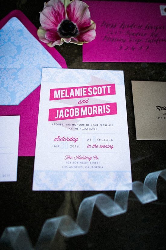 fun pink wedding invites