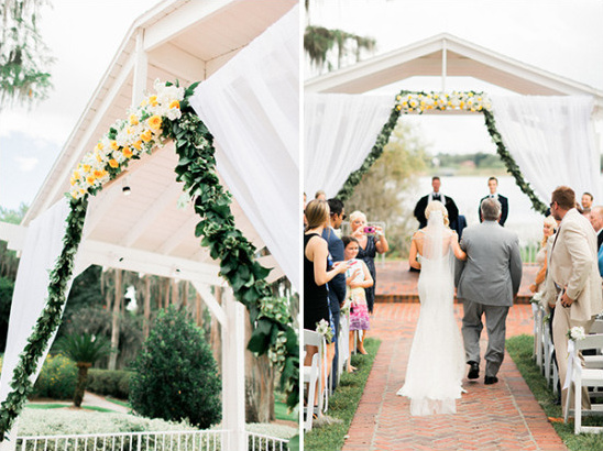 flower and garland wedding backdrop