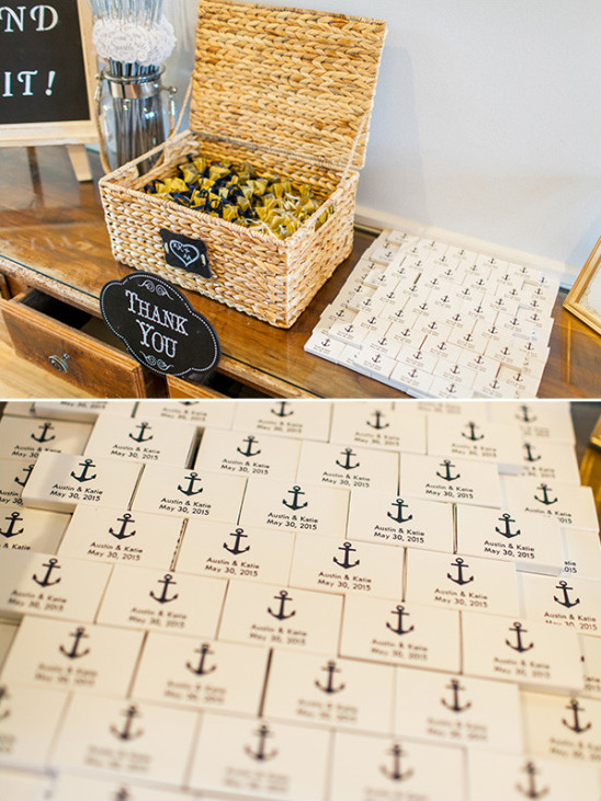 sparkler exit table with custom match books