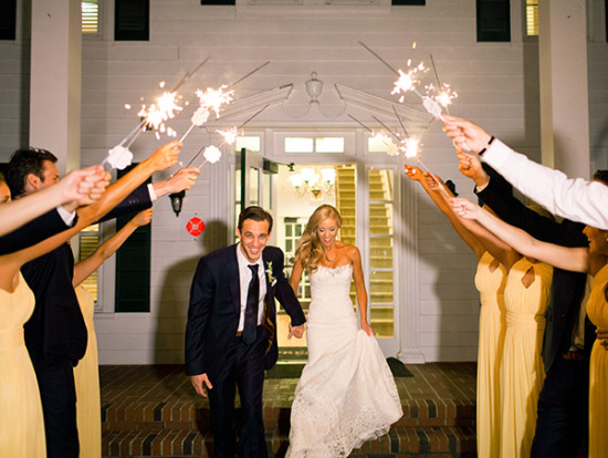 sparkler wedding reception exit
