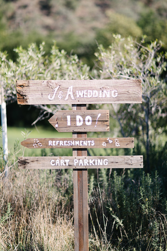 Wedding signs idea