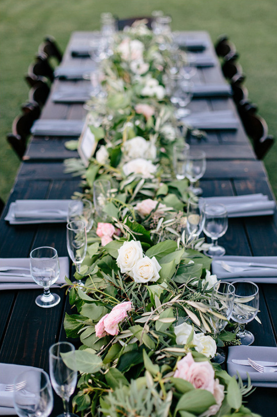 Long table centerpiece idea