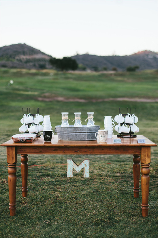 Wedding coffee bar idea