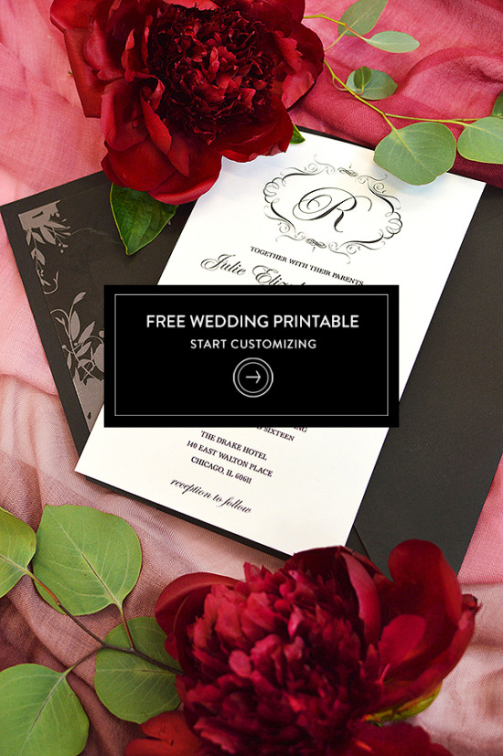 Free Elegant Wedding Invitation