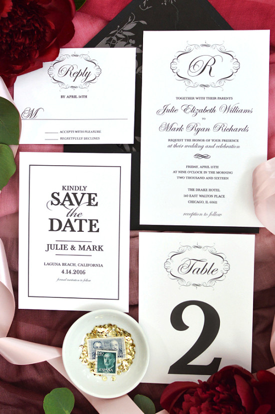free wedding invitation template for the elegant bride