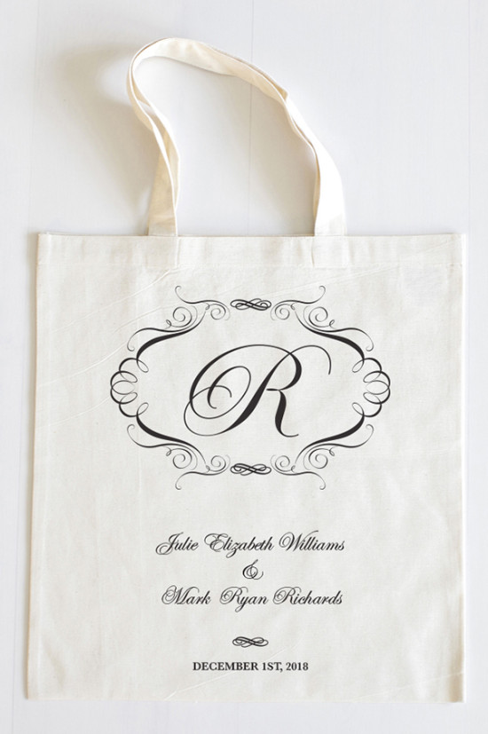 Elegant Wedding Welcome Tote