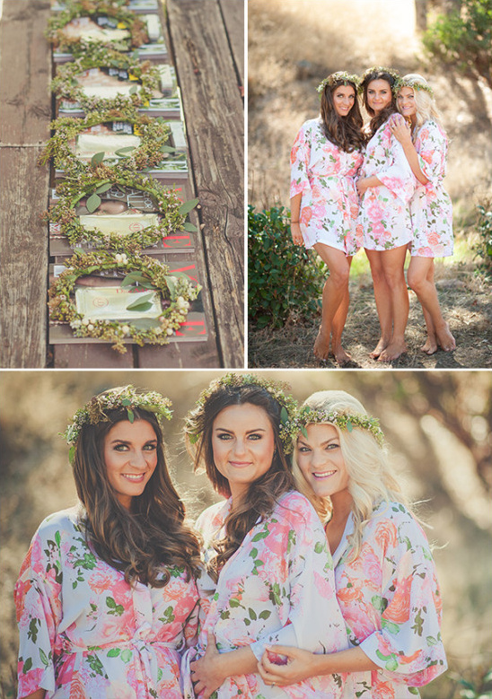 floral print getting ready robes