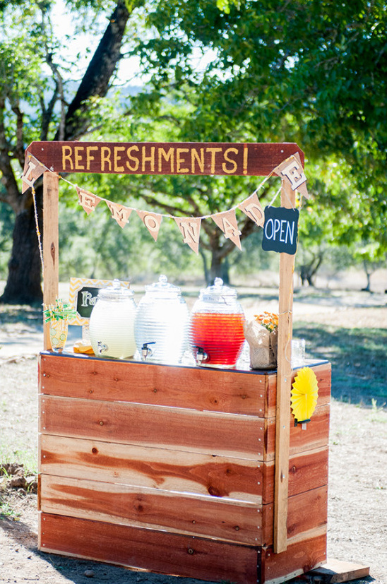 whimsical refreshments stand