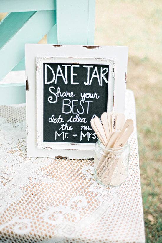 date jar wedding guestbook idea
