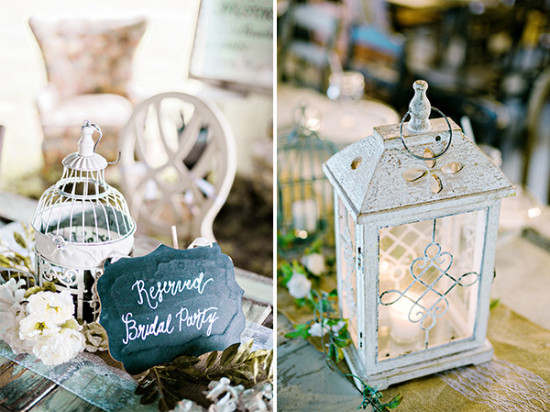 birdcage and lantern wedding decor
