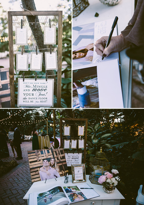 welcome table and guestbook station