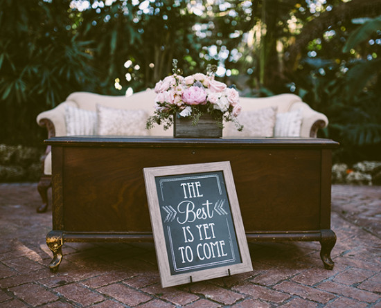 rustic chic chalkboard sign decor
