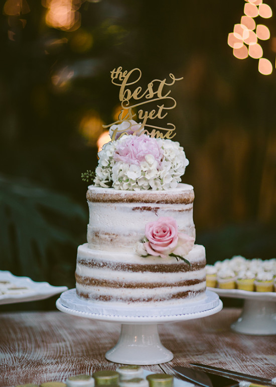the best is yet to come naked cake topper