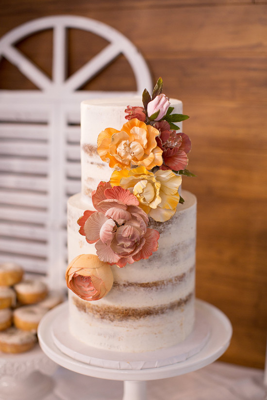 Bridal shower naked cake
