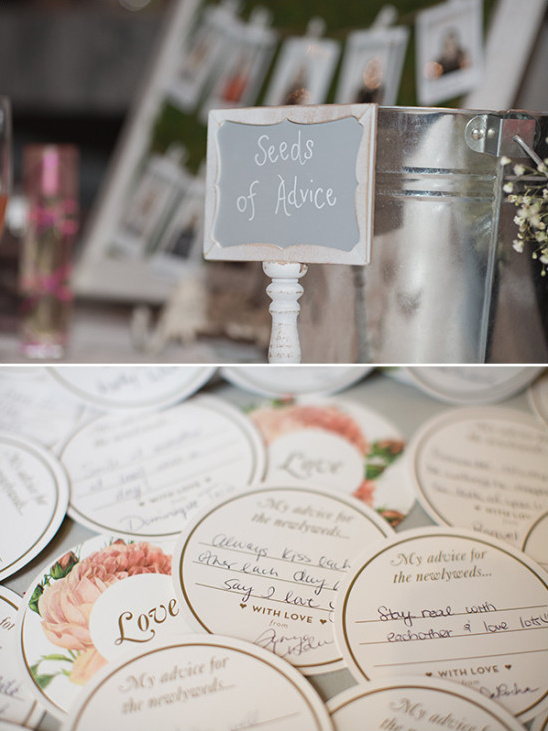 Bridal shower party advice idea