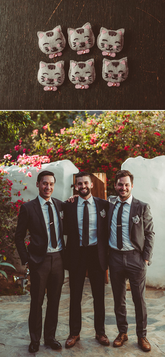 groomsmen with adorable boutonnieres