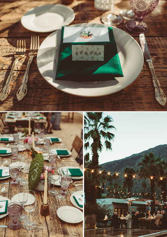 rustic dessert themed table decor