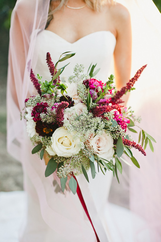 burgandy and soft pink bouquet