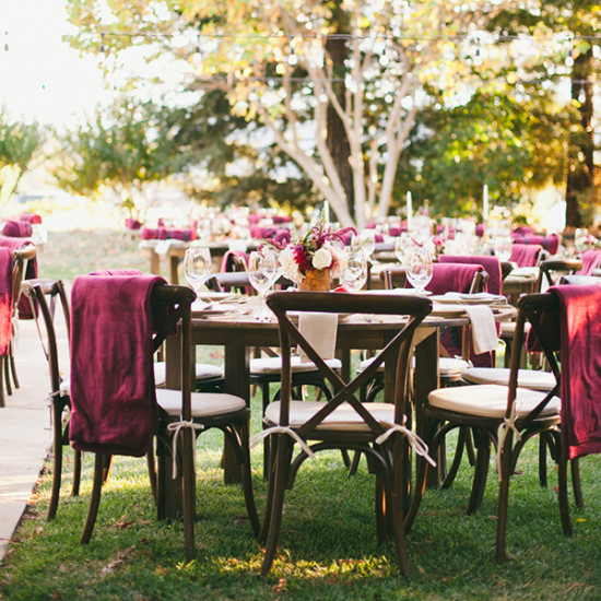 burgandy wedding reception
