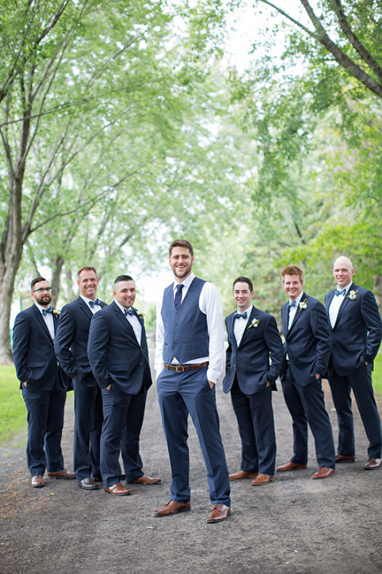 Groomsmen in navy blue
