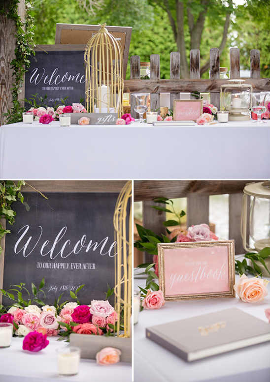 Welcome and guest book table