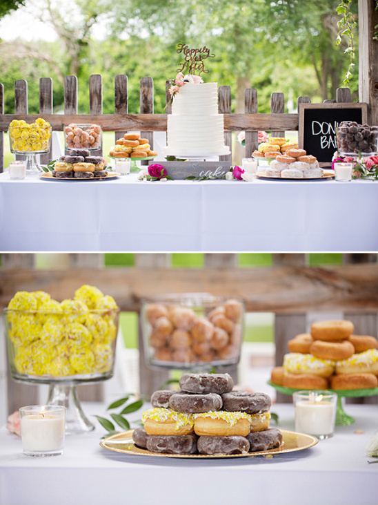 Dessert table with donut bar