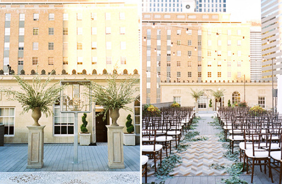luxury rooftop wedding cremony