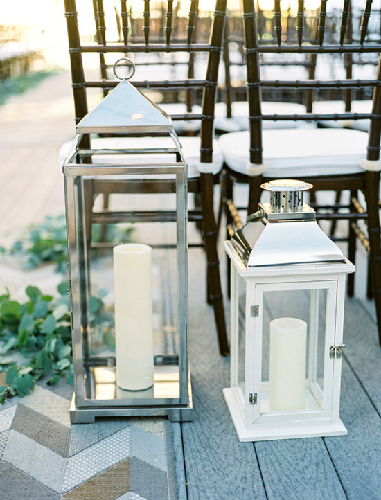 wedding aisle decor lanterns