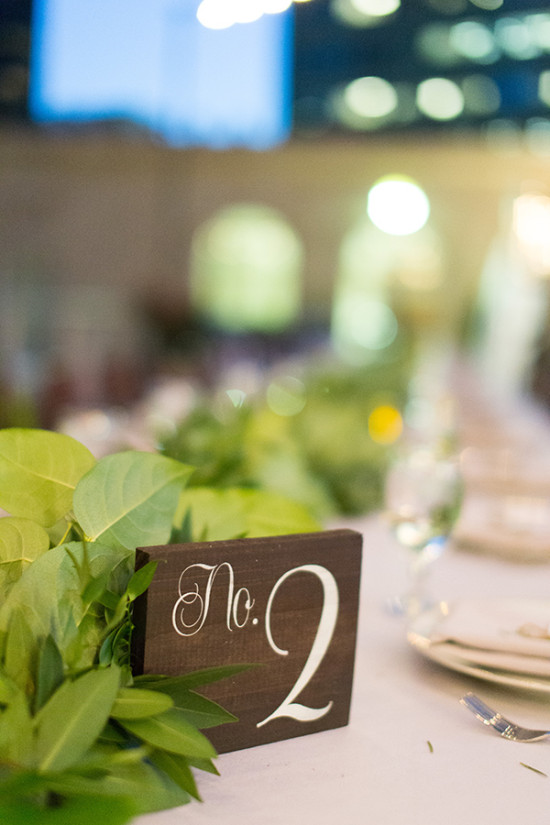 simple and elegant table number
