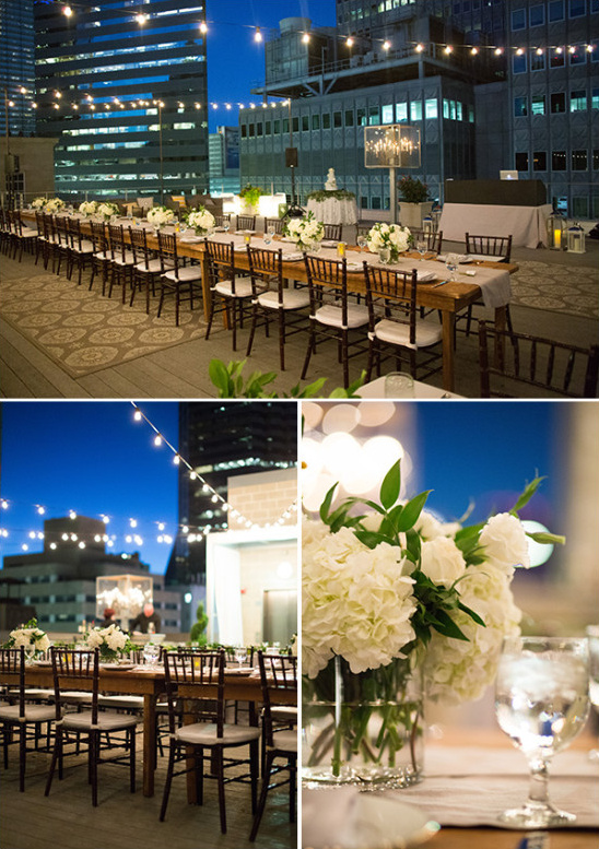 outdoor wedding reception lighting idea