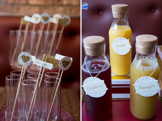 bridal shower bar idea
