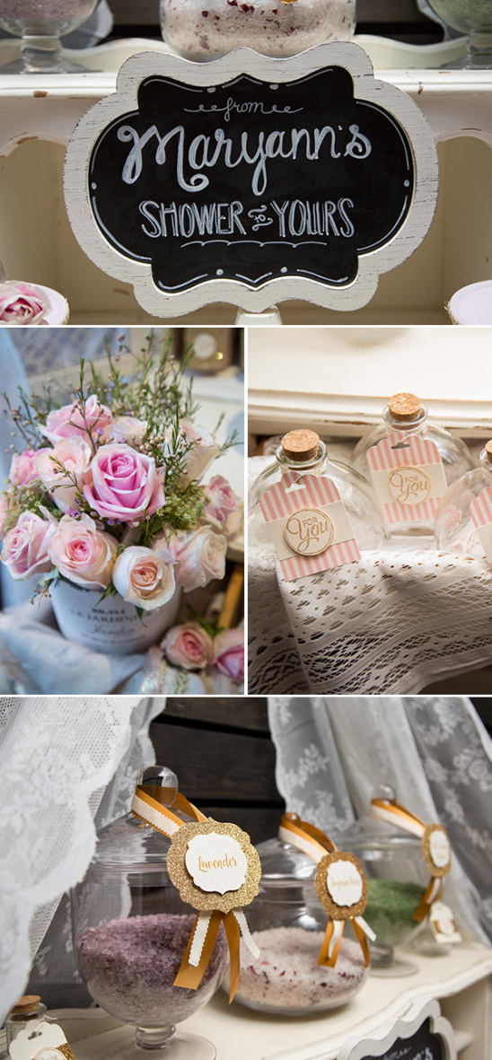 bath salt wedding favor bar