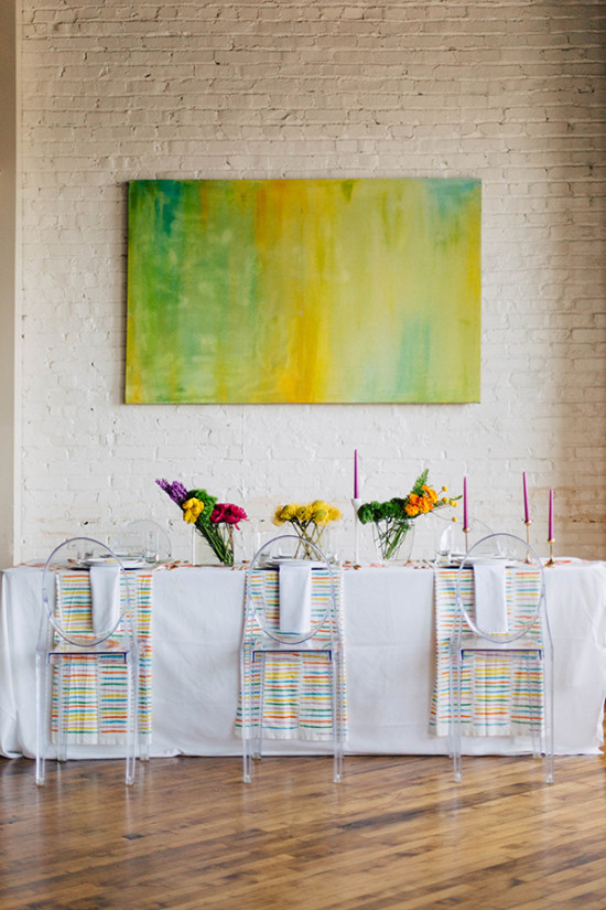 watercolor reception ideas