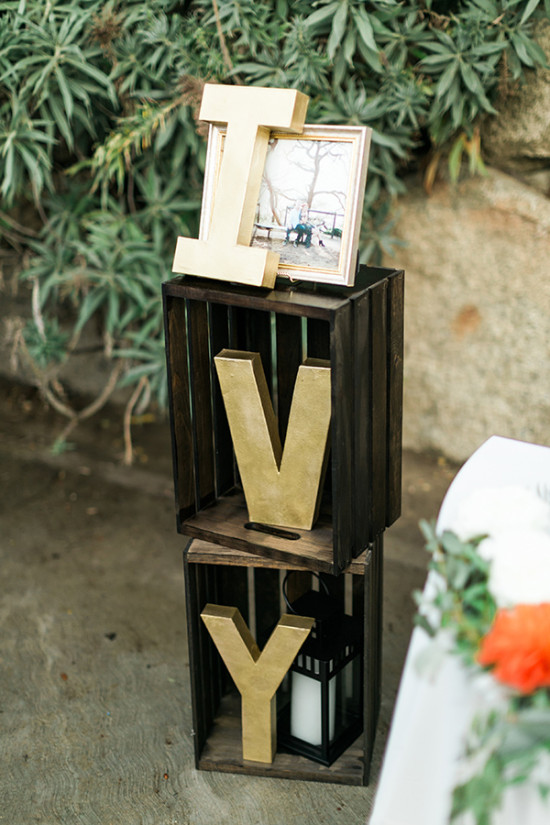 gold letter decor