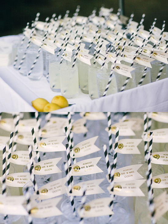 Ceremony lemonade idea for guests