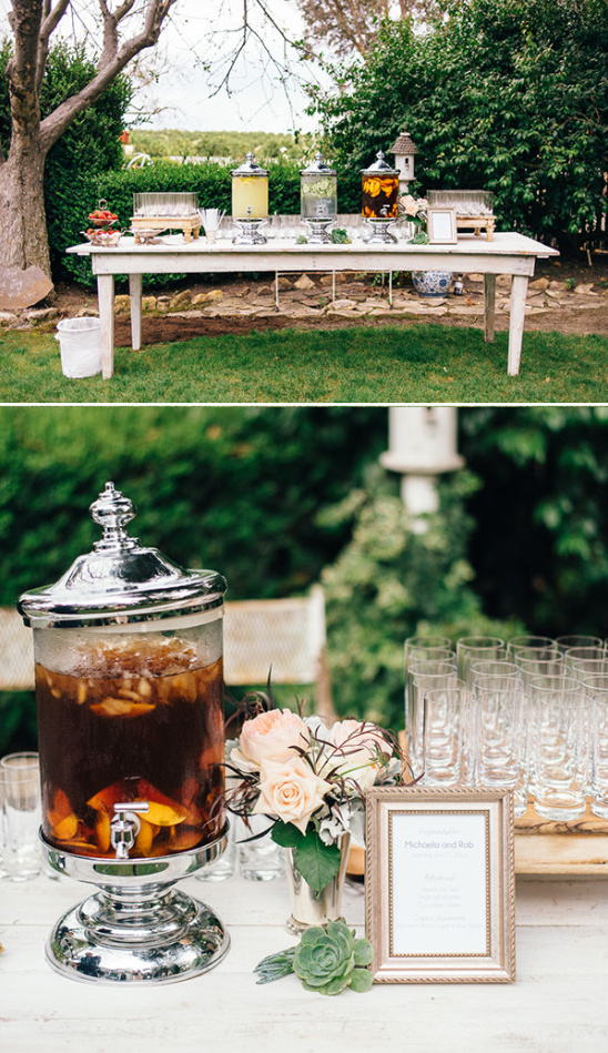 wedding refreshment table