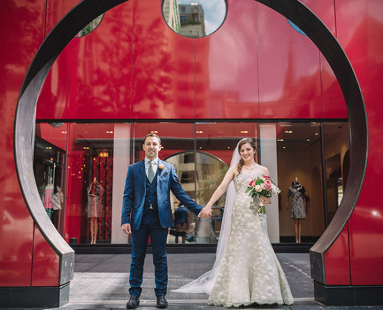 chicago public art wedding photos