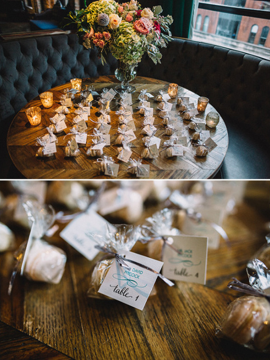 macaron wedding favors and escort cards