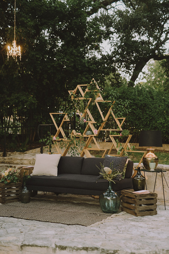 Ceremony turned seating area